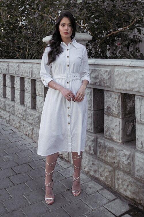 שמלת חולצה ווייט