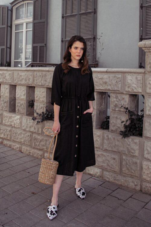 שמלת בלק פשתן
