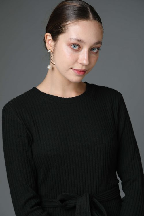 שמלת סריג ריב שחור