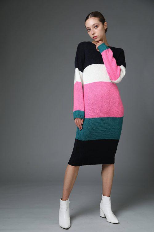 שמלת סריג אייס צבעוני