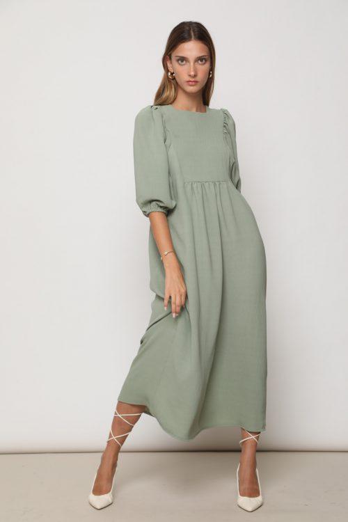 שמלת מרי אוברסייז עם אופציות קשירה - גרין